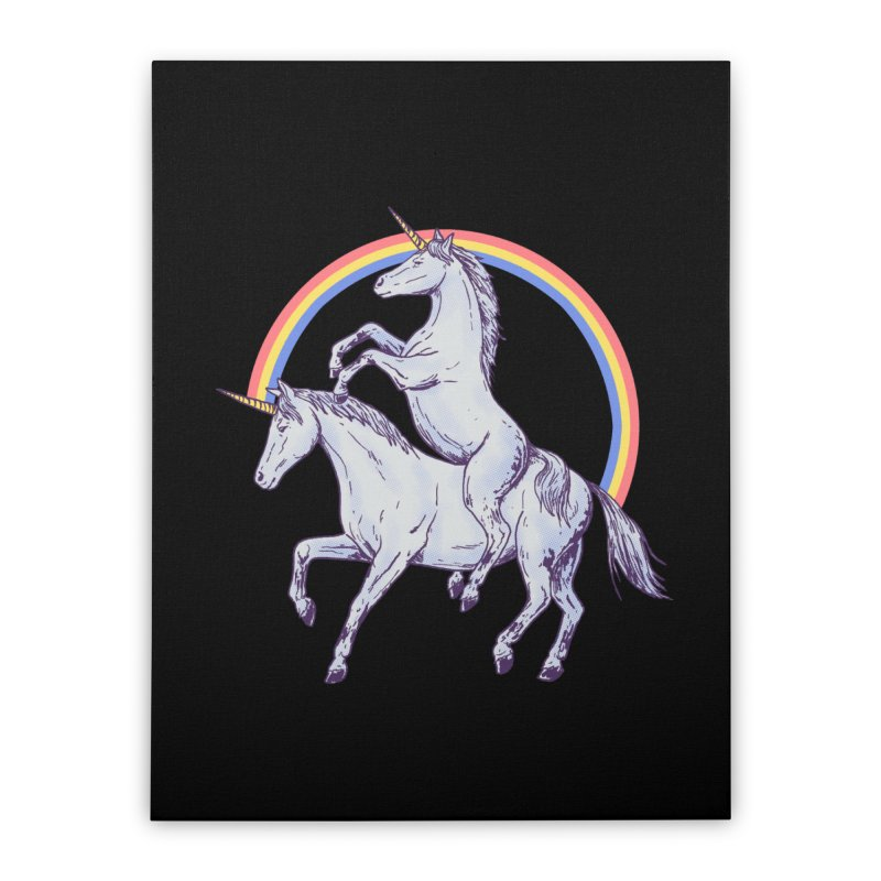 Unicorn Rider Home Stretched Canvas by Hillary White