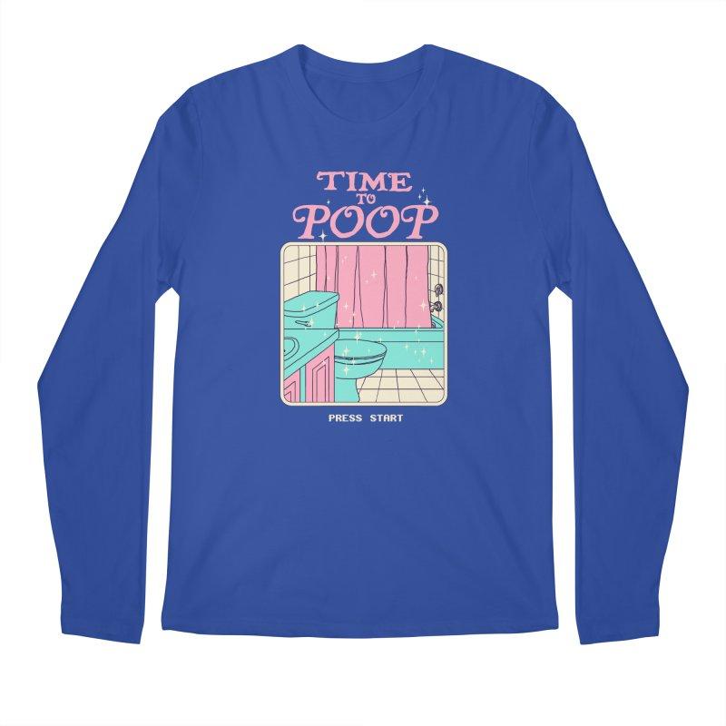 Time To Poop Men's Regular Longsleeve T-Shirt by Hillary White