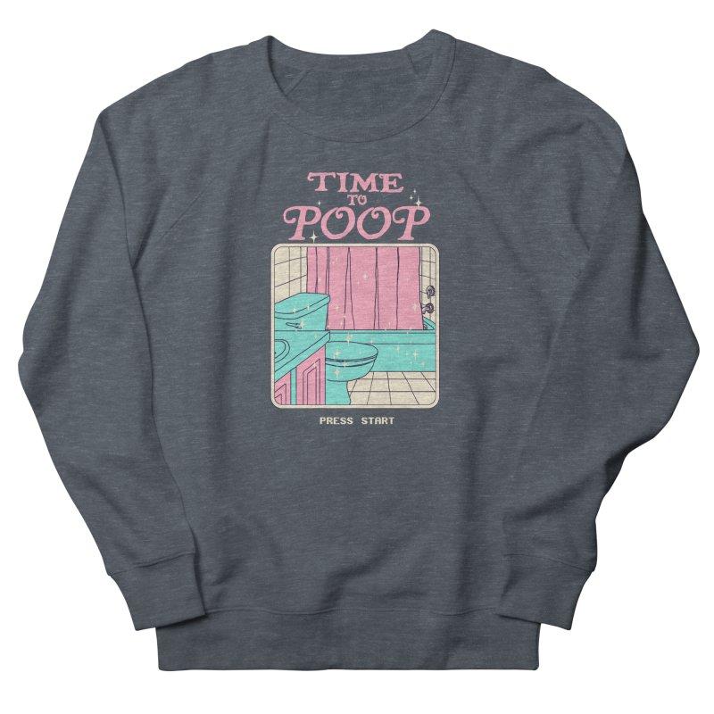 Time To Poop Women's French Terry Sweatshirt by hillarywhiterabbit's Artist Shop