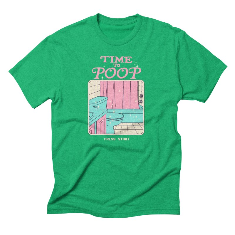 Time To Poop Men's Triblend T-Shirt by Hillary White