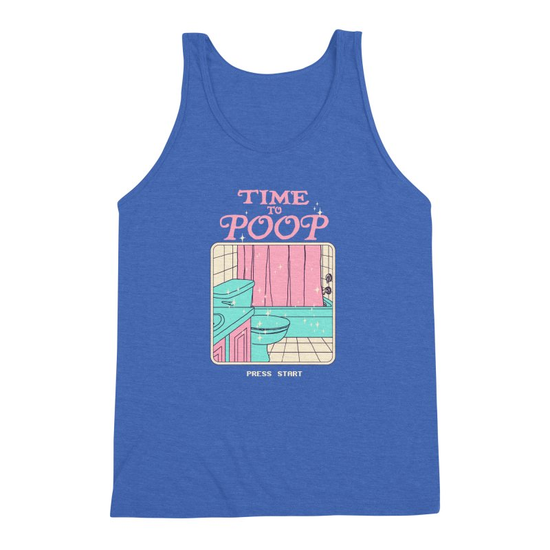 Time To Poop Men's Triblend Tank by Hillary White