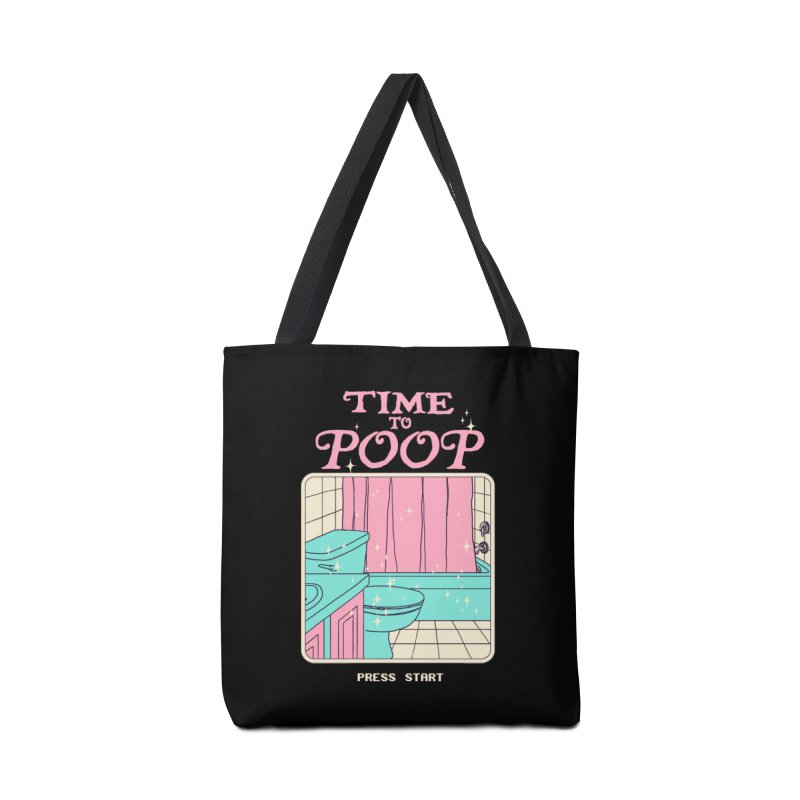 Time To Poop Accessories Bag by Hillary White