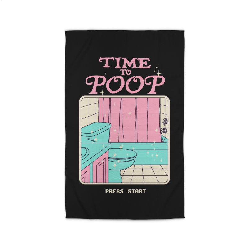 Time To Poop Home Rug by hillarywhiterabbit's Artist Shop