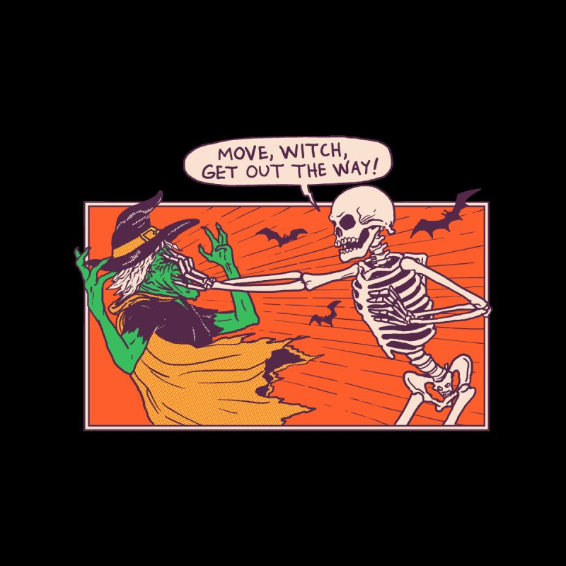 Move, Witch Home Mounted Aluminum Print by Hillary White