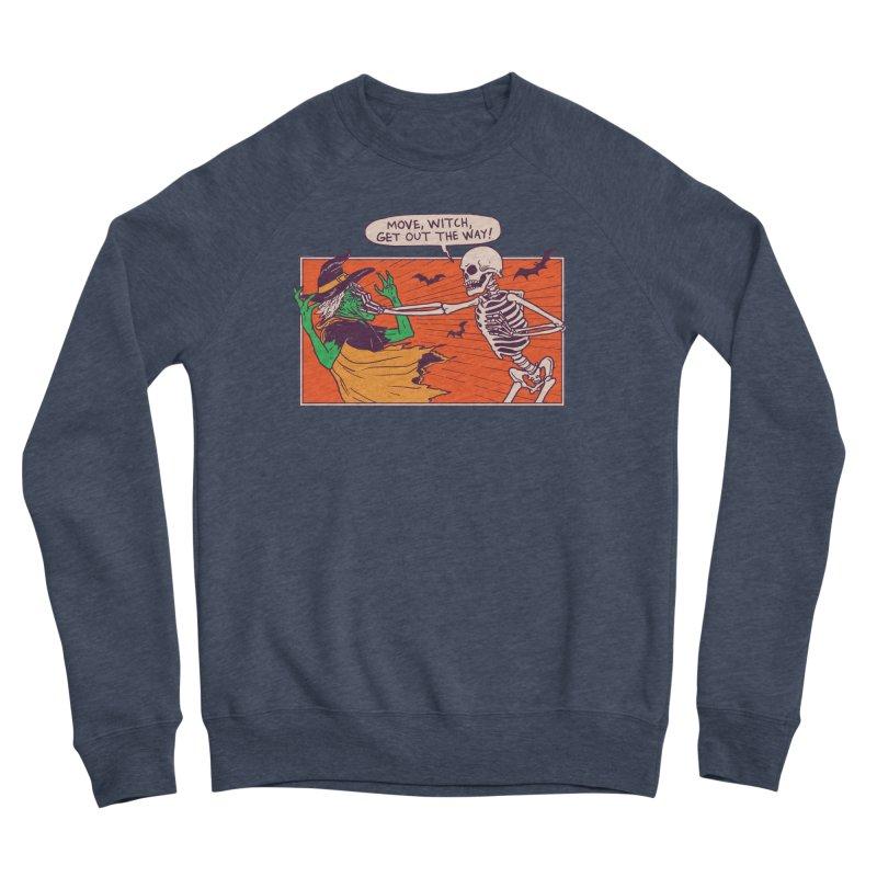 Move, Witch Men's Sponge Fleece Sweatshirt by Hillary White