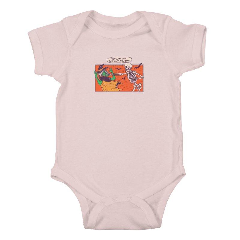Move, Witch Kids Baby Bodysuit by hillarywhiterabbit's Artist Shop