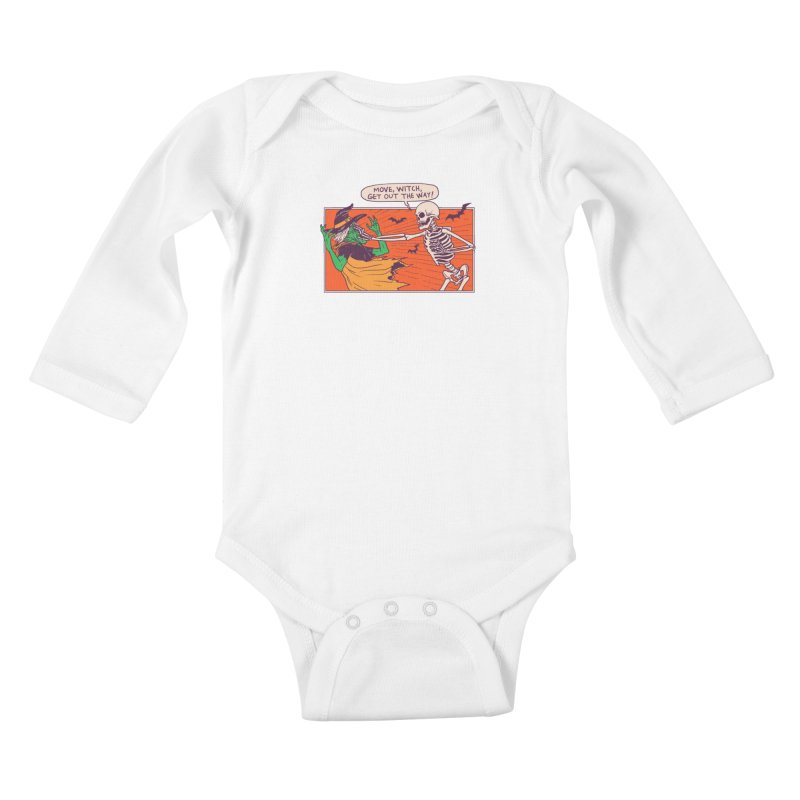 Move, Witch Kids Baby Longsleeve Bodysuit by Hillary White