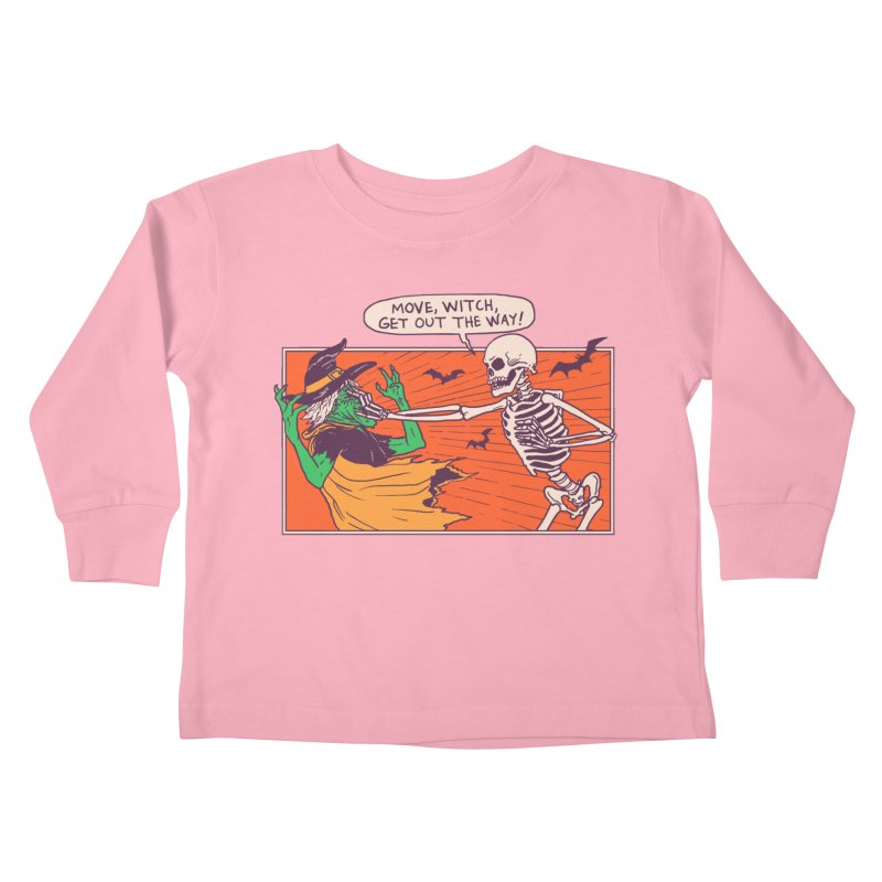 Move, Witch Kids Toddler Longsleeve T-Shirt by hillarywhiterabbit's Artist Shop