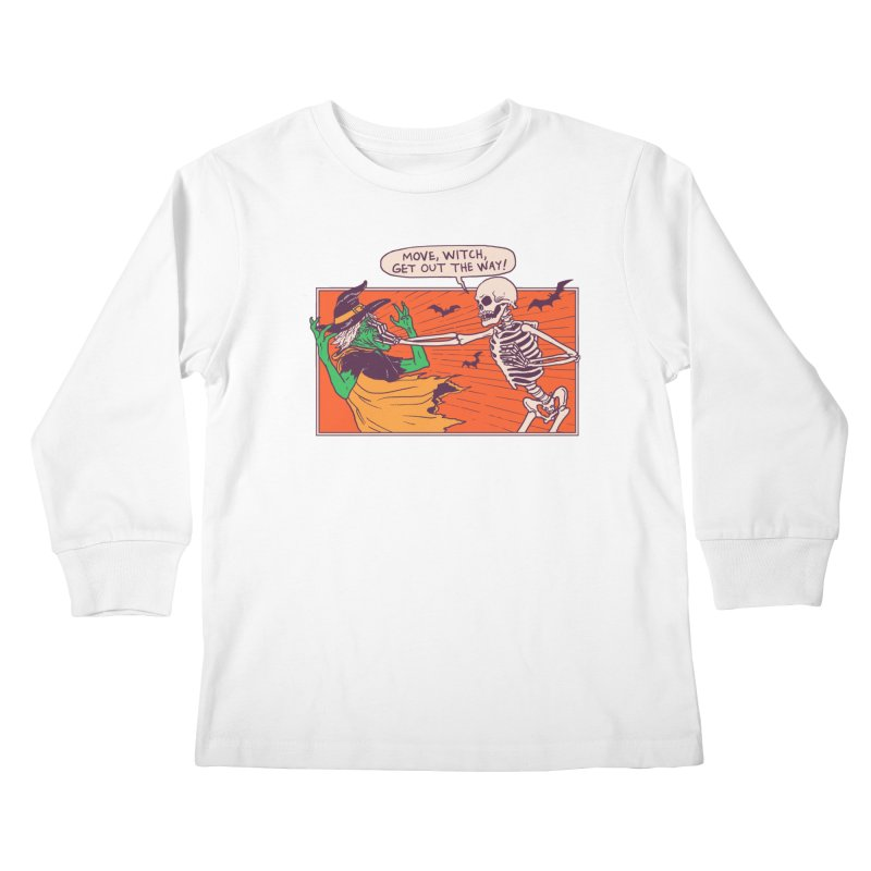 Move, Witch Kids Longsleeve T-Shirt by Hillary White
