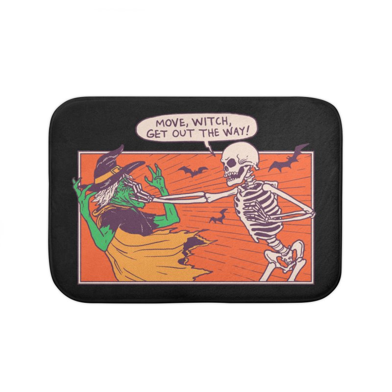 Move, Witch Home Bath Mat by Hillary White