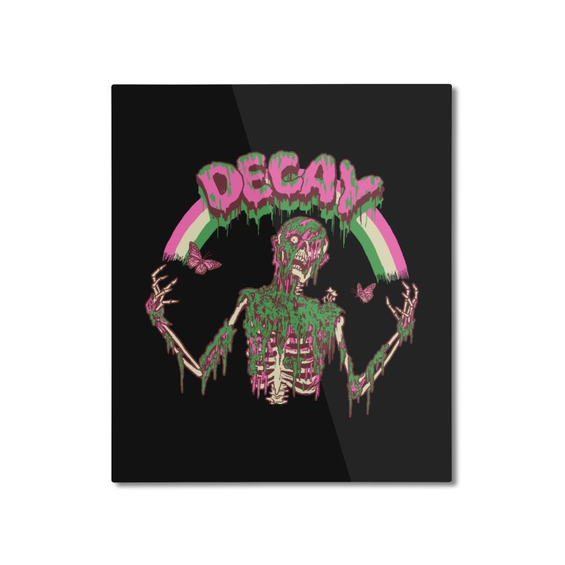 Decay Home Mounted Aluminum Print by Hillary White