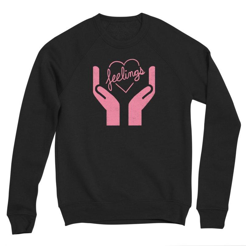 Handle With Care Men's Sponge Fleece Sweatshirt by Hillary White