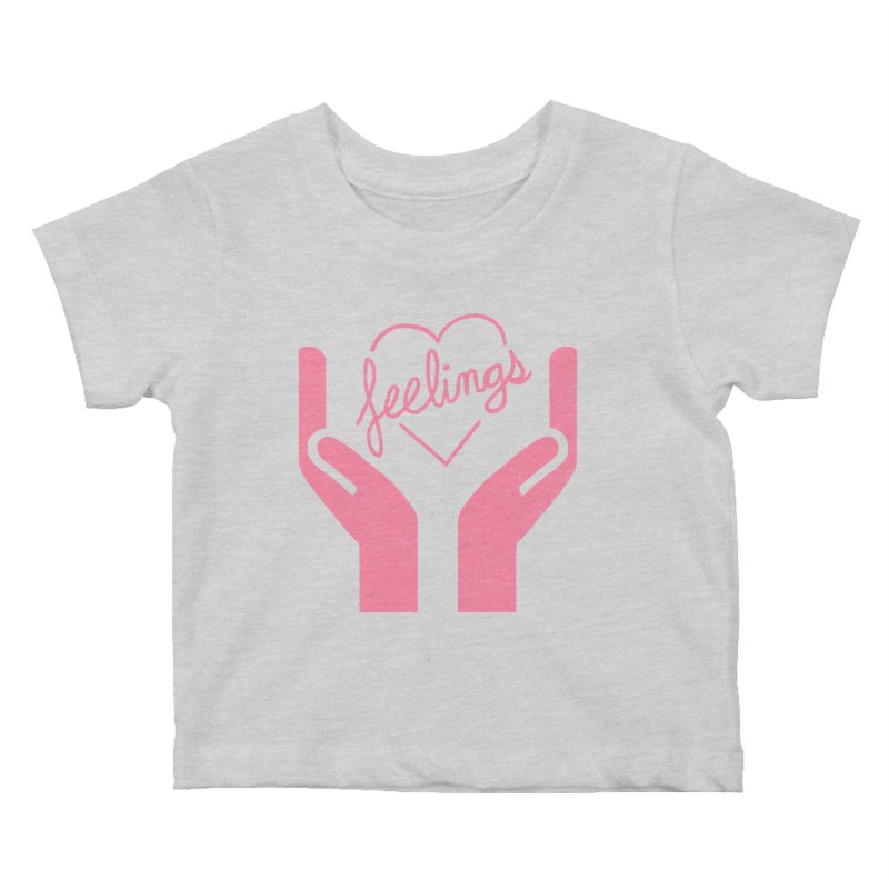 Handle With Care Kids Baby T-Shirt by Hillary White