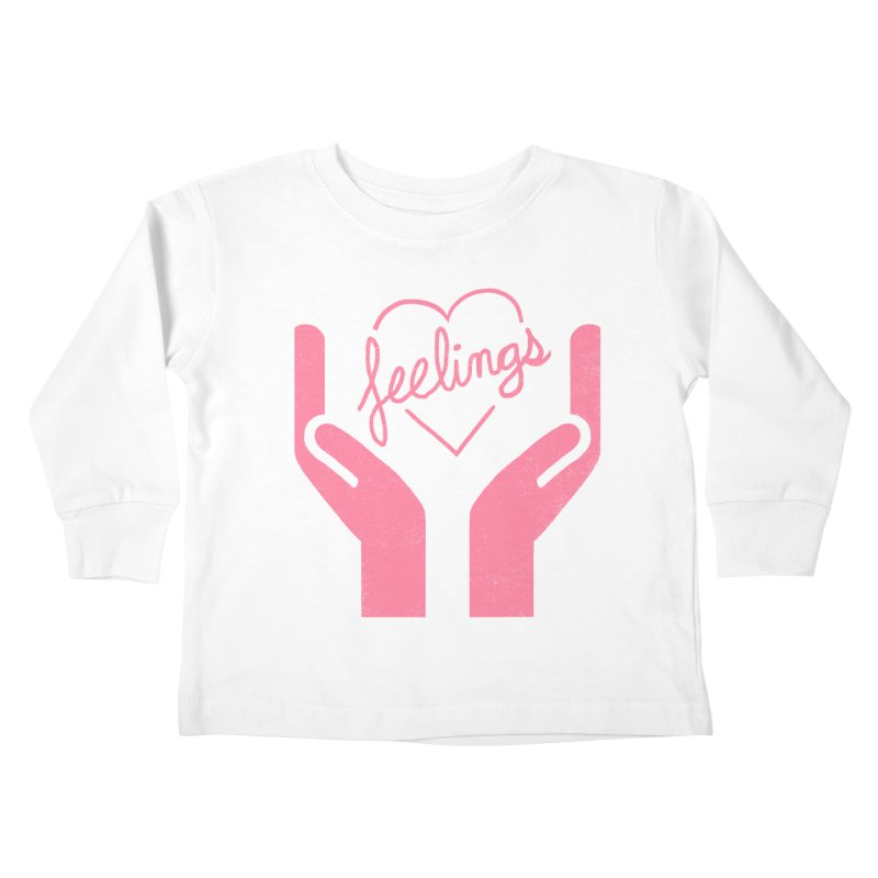 Handle With Care Kids Toddler Longsleeve T-Shirt by Hillary White