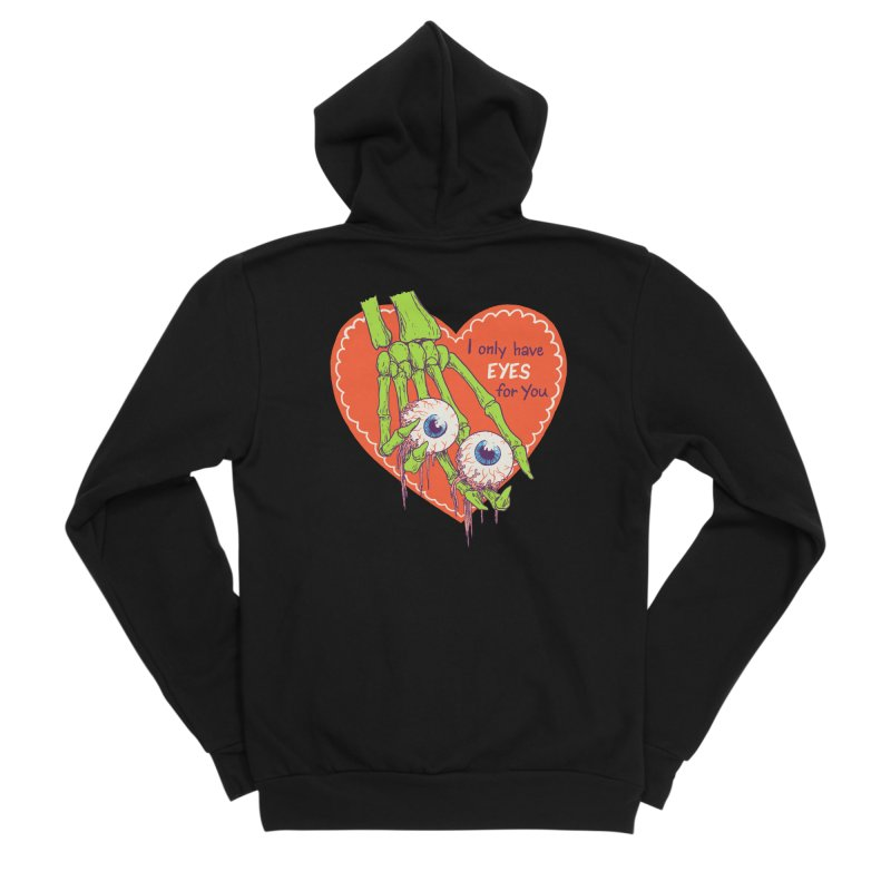 I Only Have Eyes For You Women's Sponge Fleece Zip-Up Hoody by Hillary White