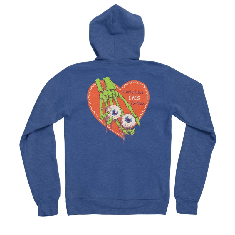 I Only Have Eyes For You Men's Sponge Fleece Zip-Up Hoody by Hillary White