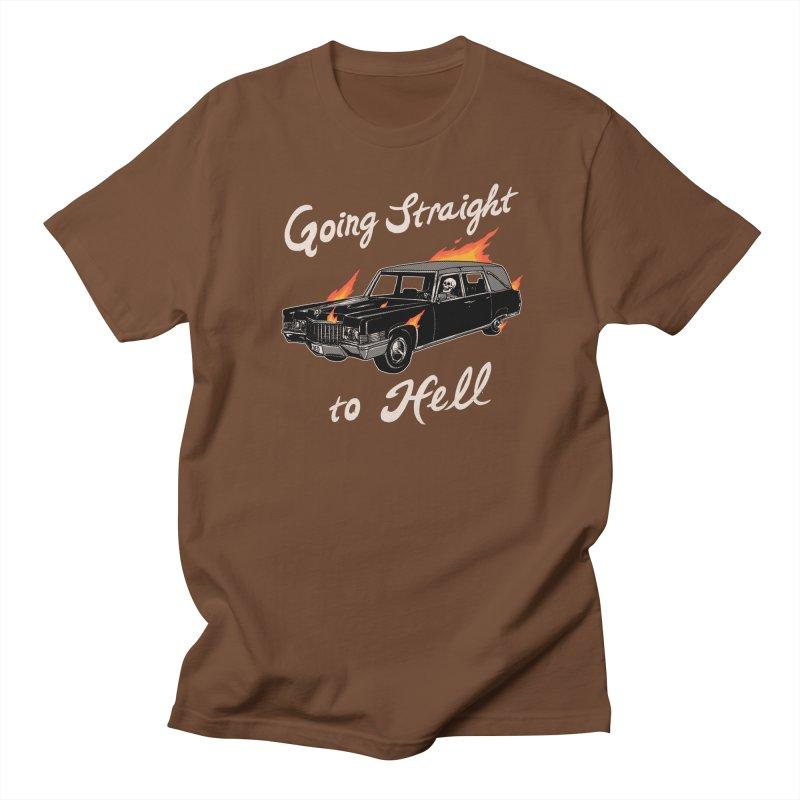 Going Straight To Hell Men's Regular T-Shirt by Hillary White