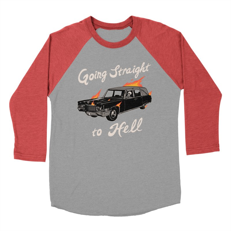 Going Straight To Hell Women's Baseball Triblend Longsleeve T-Shirt by Hillary White