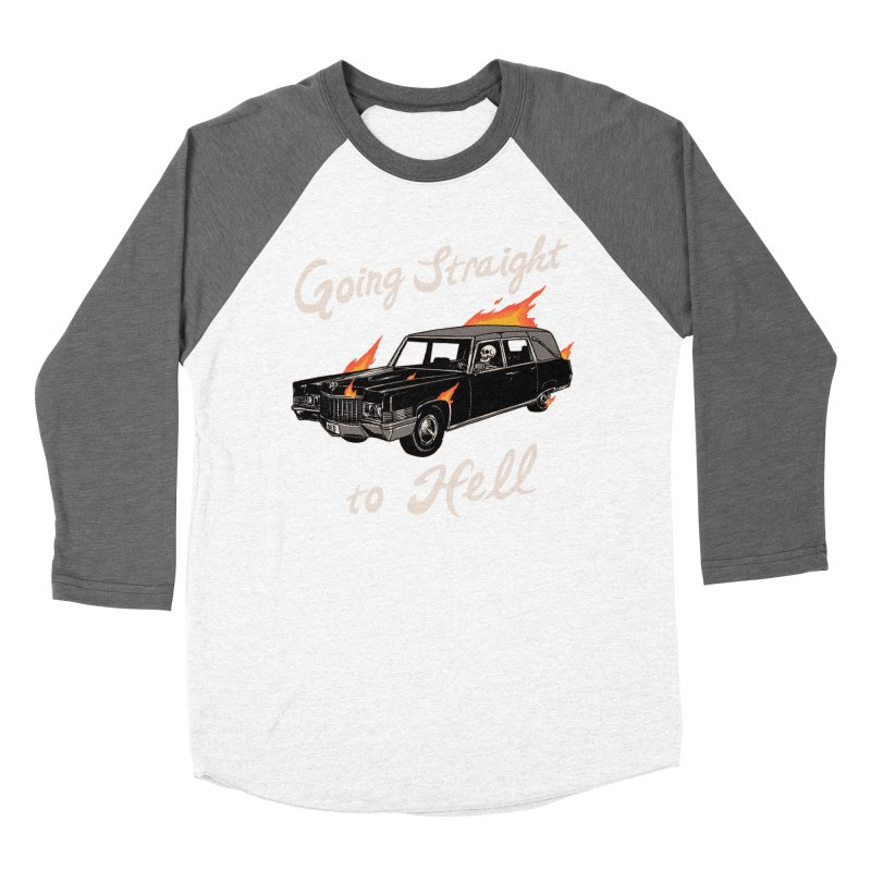 Going Straight To Hell Men's Baseball Triblend Longsleeve T-Shirt by Hillary White