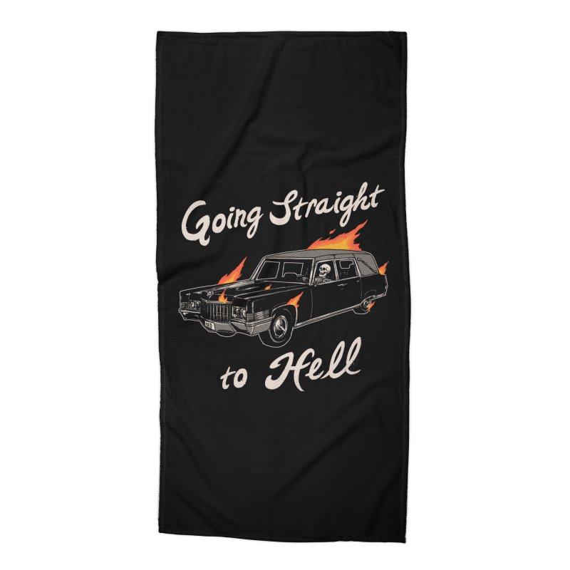 Going Straight To Hell Accessories Beach Towel by hillarywhiterabbit's Artist Shop