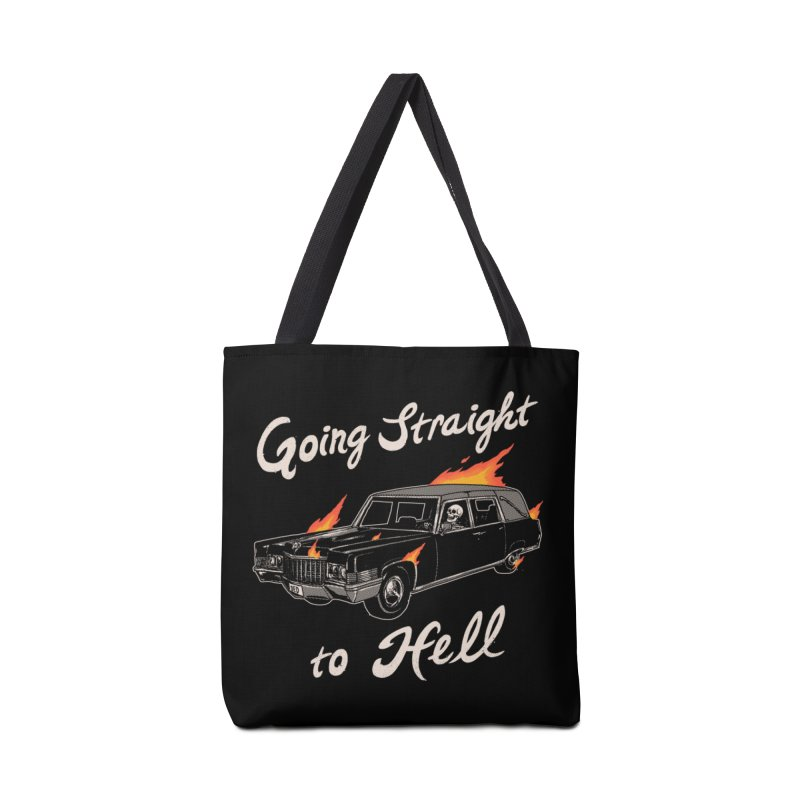 Going Straight To Hell Accessories Bag by Hillary White