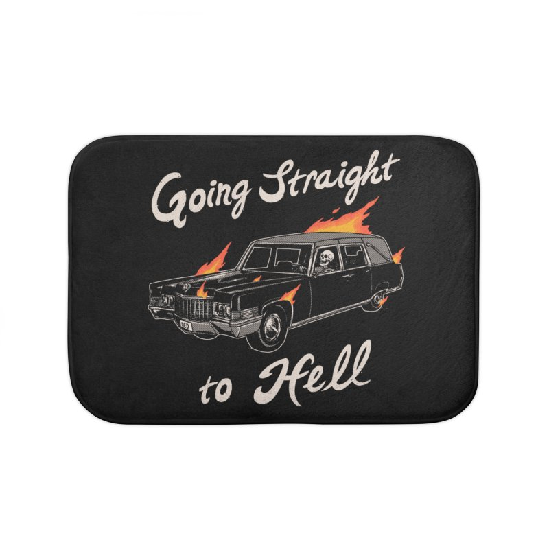 Going Straight To Hell Home Bath Mat by Hillary White