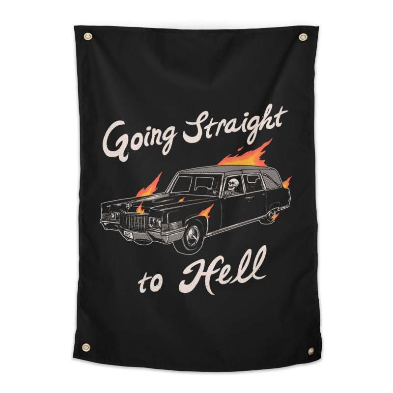 Going Straight To Hell Home Tapestry by Hillary White