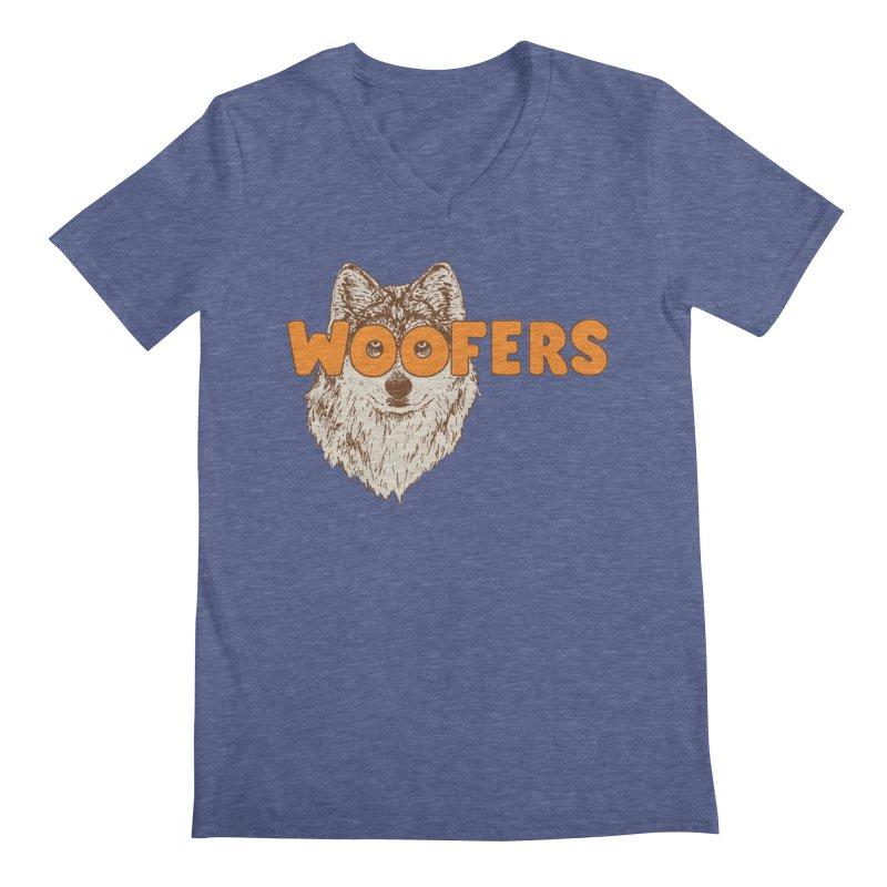 Woofers Men's Regular V-Neck by Hillary White