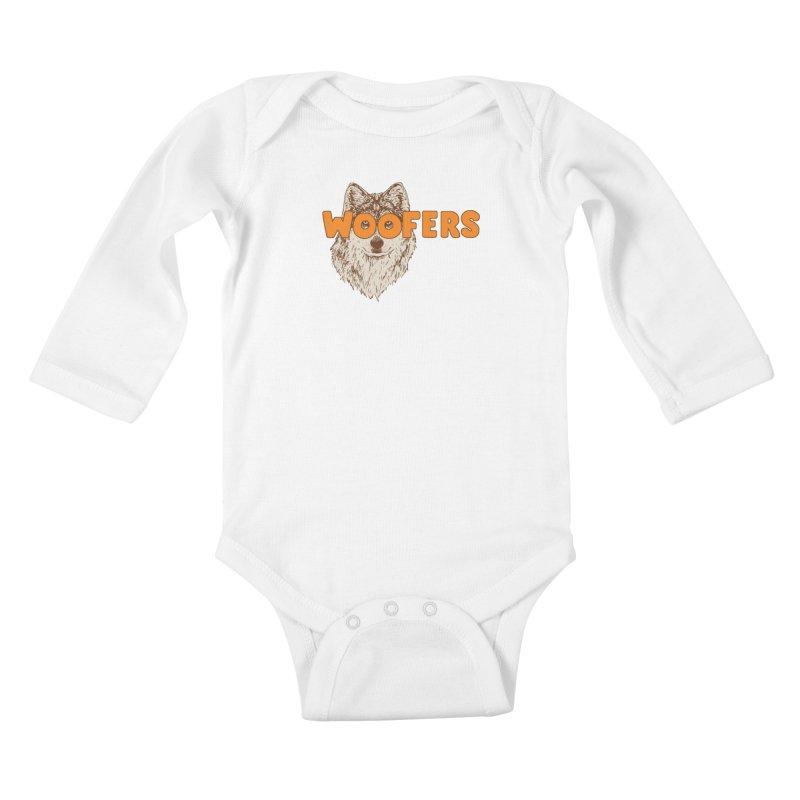 Woofers Kids Baby Longsleeve Bodysuit by Hillary White