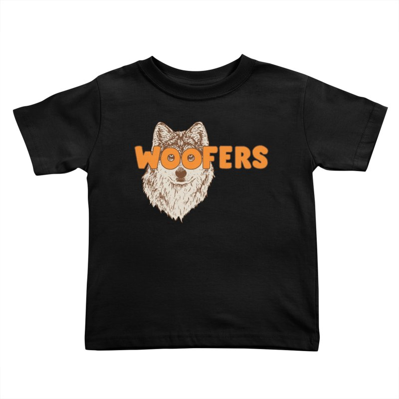 Woofers Kids Toddler T-Shirt by Hillary White