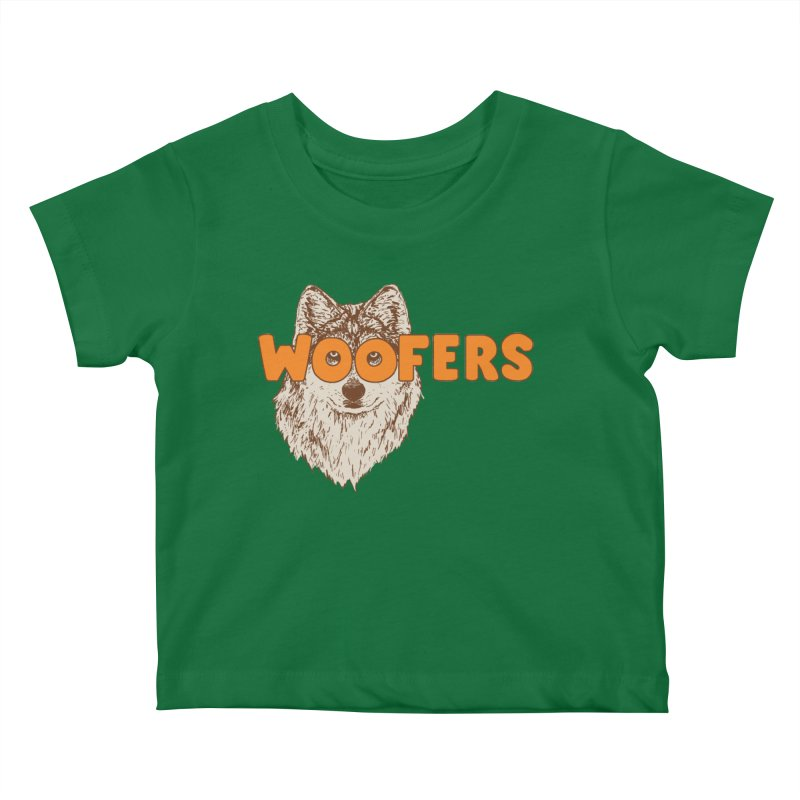 Woofers Kids Baby T-Shirt by Hillary White