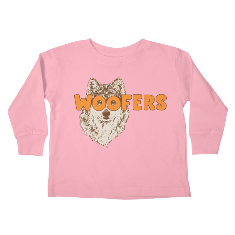 Woofers Kids Toddler Longsleeve T-Shirt by Hillary White