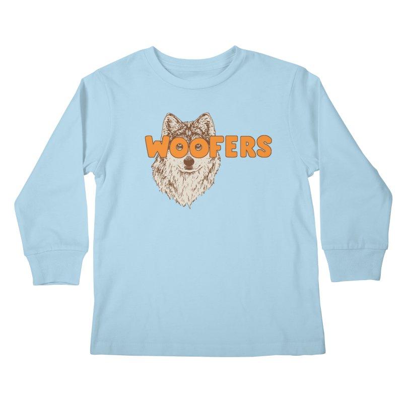 Woofers Kids Longsleeve T-Shirt by Hillary White