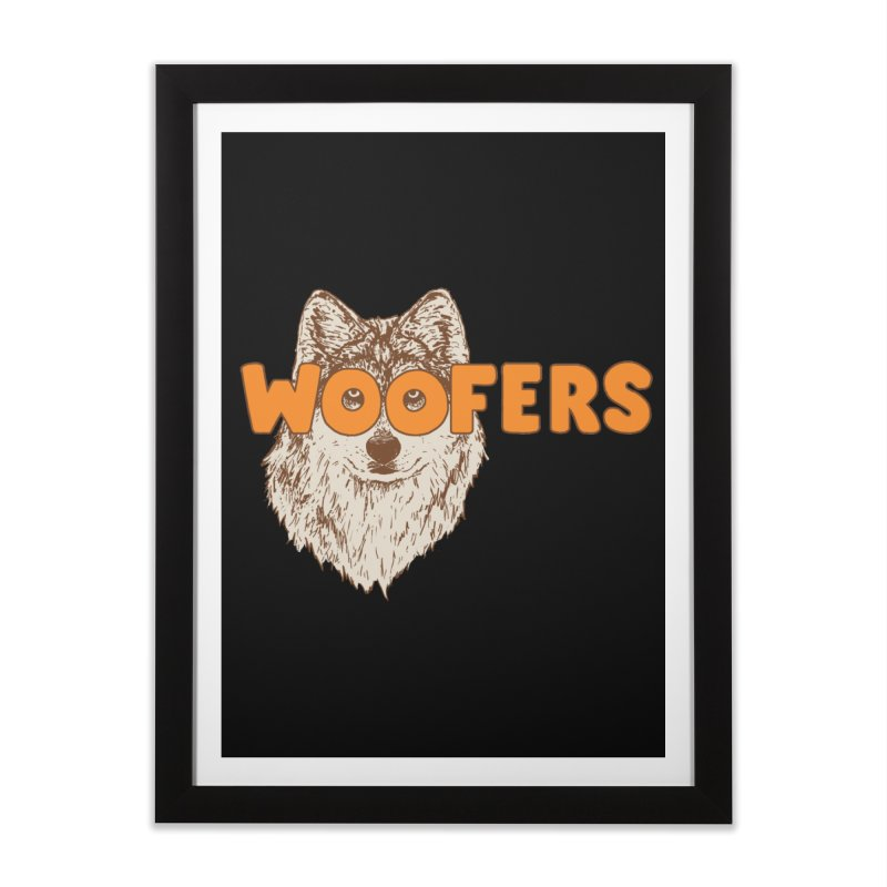 Woofers Home Framed Fine Art Print by Hillary White