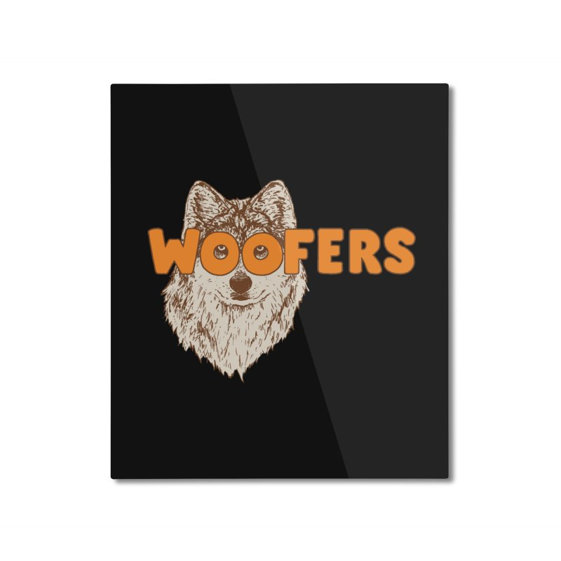 Woofers Home Mounted Aluminum Print by Hillary White