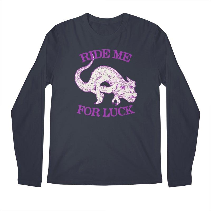 Ride Me For Luck Men's Regular Longsleeve T-Shirt by Hillary White