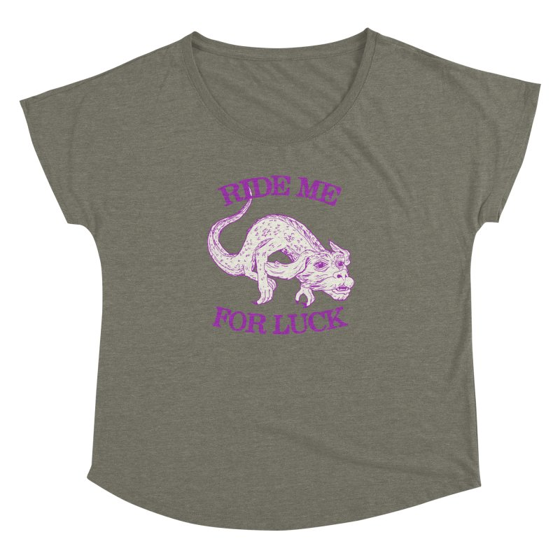 Ride Me For Luck Women's Dolman Scoop Neck by Hillary White