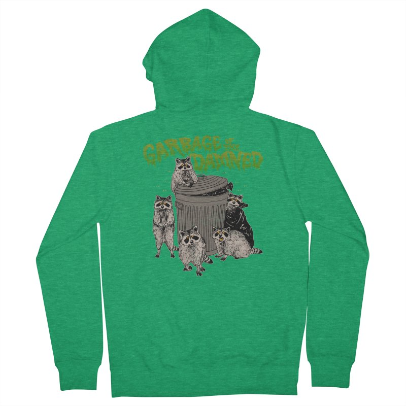 Garbage of the Damned Men's French Terry Zip-Up Hoody by Hillary White
