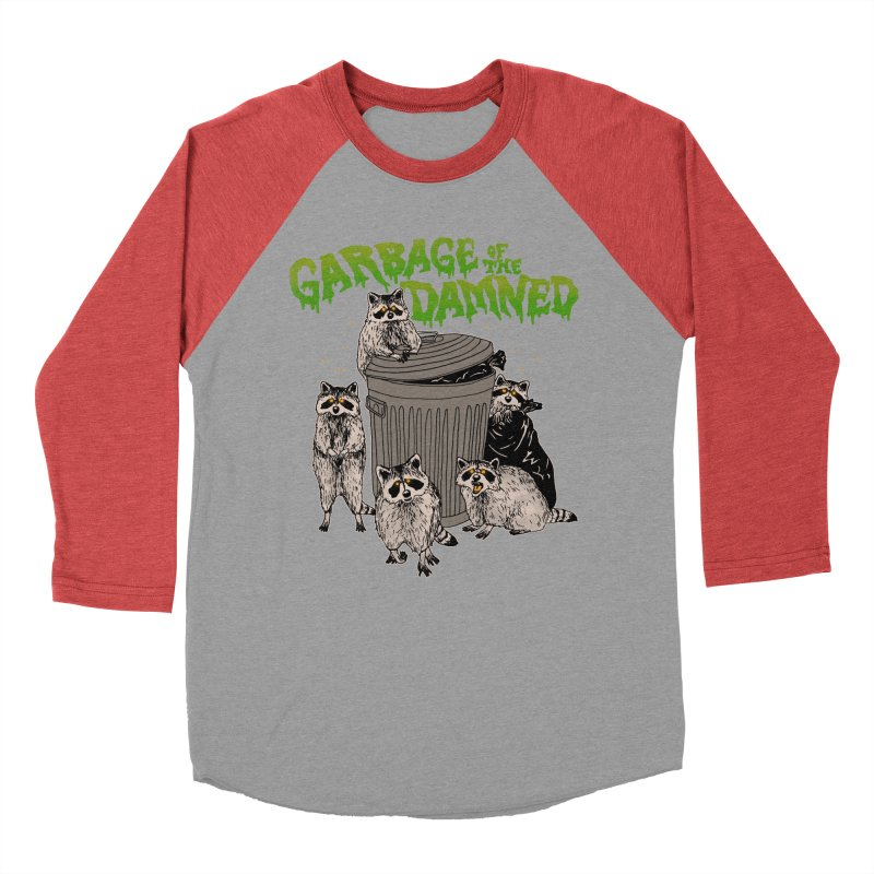 Garbage of the Damned Men's Baseball Triblend Longsleeve T-Shirt by Hillary White