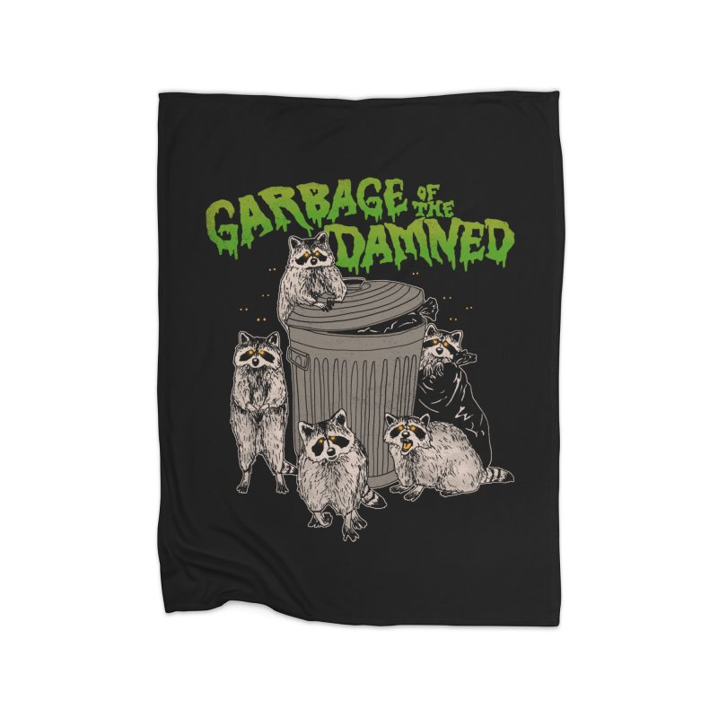 Garbage of the Damned Home Blanket by Hillary White