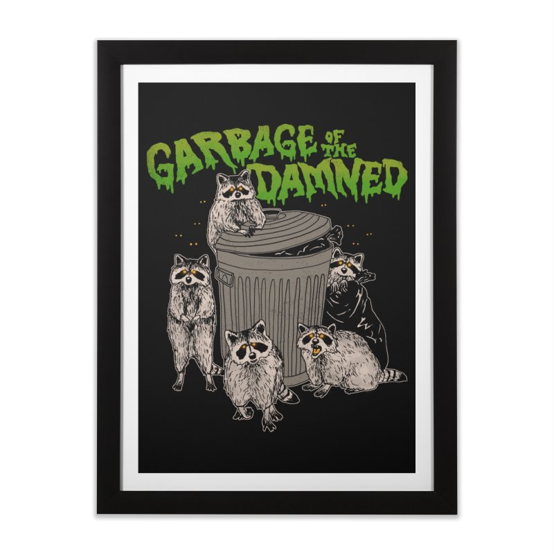 Garbage of the Damned Home Framed Fine Art Print by Hillary White