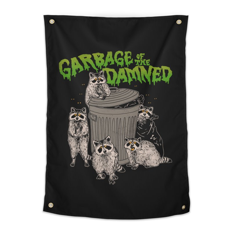 Garbage of the Damned Home Tapestry by Hillary White