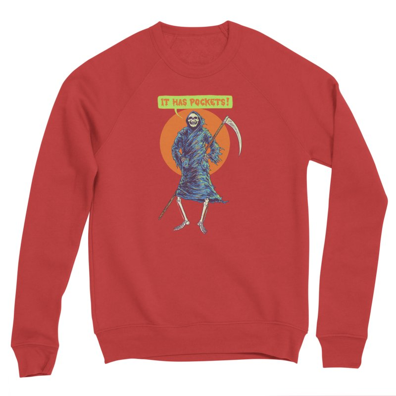 It Has Pockets Men's Sponge Fleece Sweatshirt by Hillary White