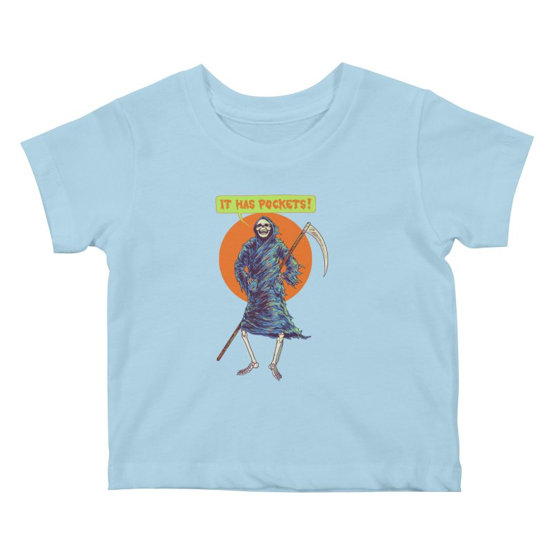 It Has Pockets Kids Baby T-Shirt by Hillary White