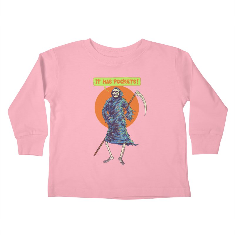 It Has Pockets Kids Toddler Longsleeve T-Shirt by Hillary White