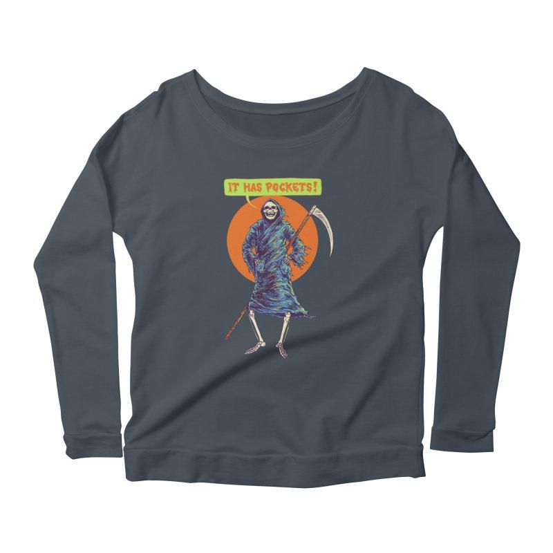 It Has Pockets Women's Scoop Neck Longsleeve T-Shirt by Hillary White