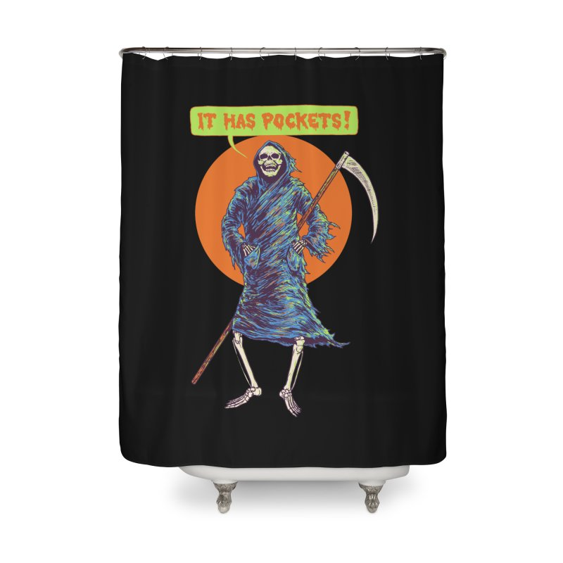 It Has Pockets Home Shower Curtain by Hillary White