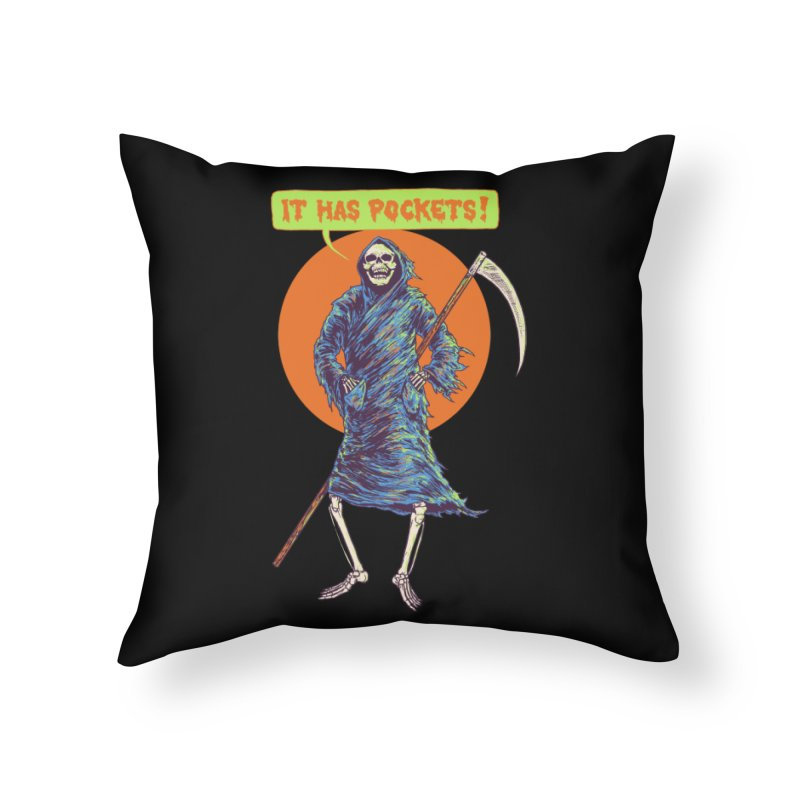 It Has Pockets Home Throw Pillow by Hillary White