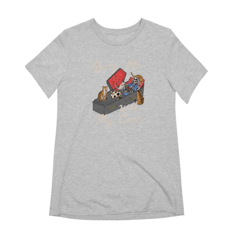 Bury Me With My Cats Women's Extra Soft T-Shirt by Hillary White