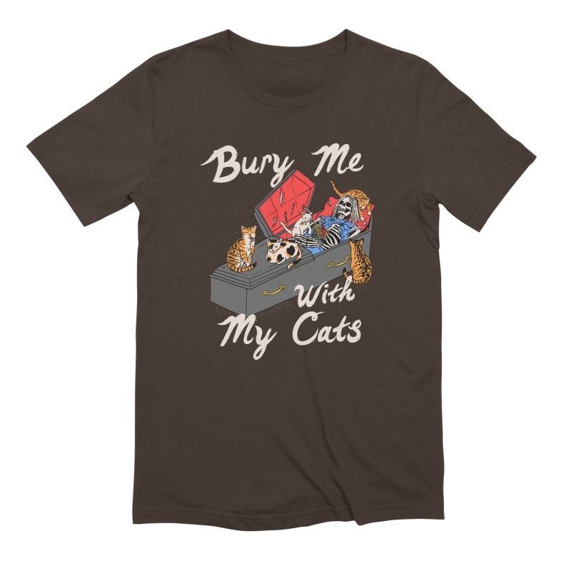 Bury Me With My Cats Men's Extra Soft T-Shirt by Hillary White